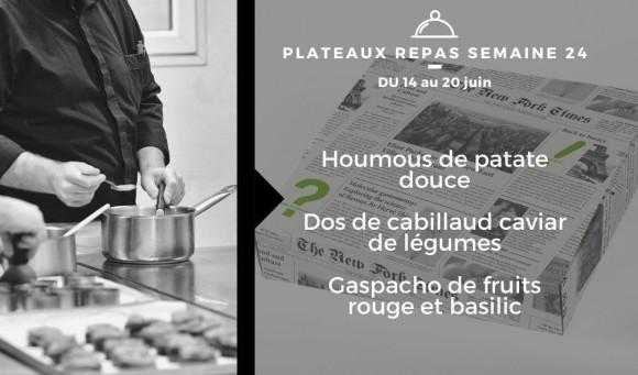 Plateaux repas du 14 au 20 juin