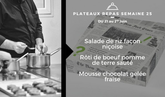 Plateaux repas du 21 au 27 juin