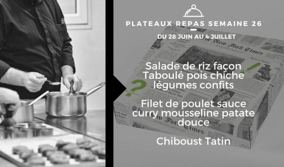 Plateaux repas du 28 juin au 4 juillet