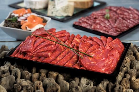 Chorizo et ses condiments (plateau 500 grs)