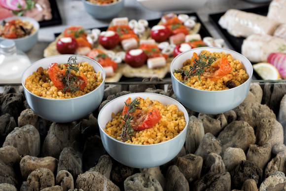 Salade de céréales aux épices indiennes (pokebowl)