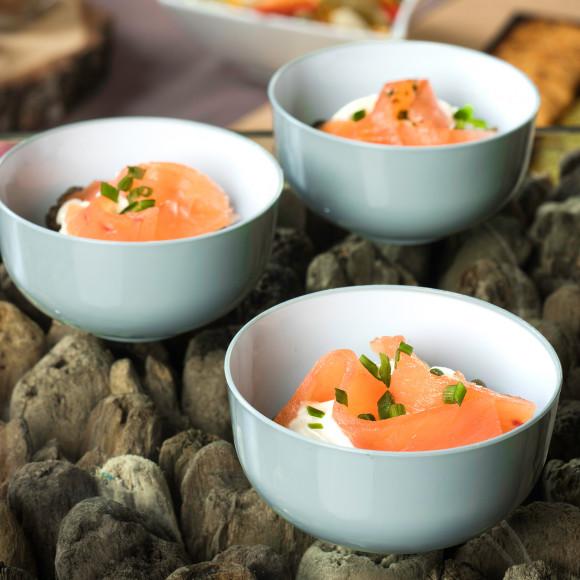 Salade de lentille au saumon fumé (pokebowl)