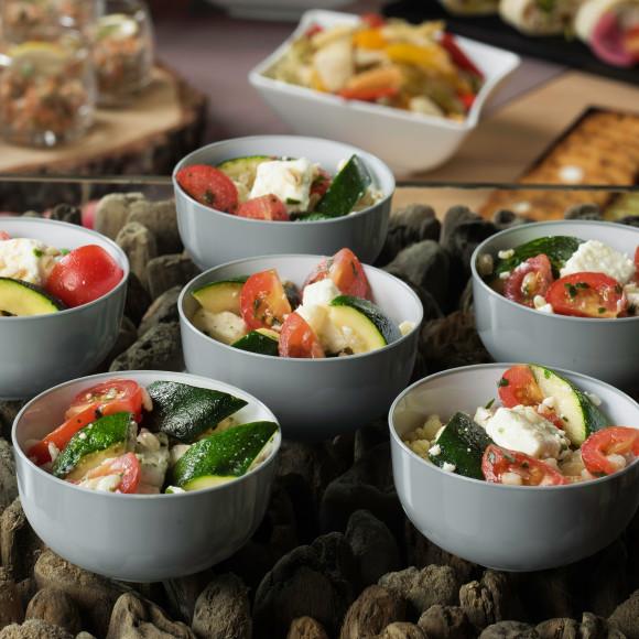 Salade de blé, feta et courgette (pokebowl)