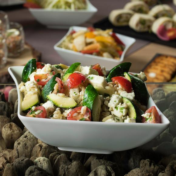 Salade de blé, feta et courgette