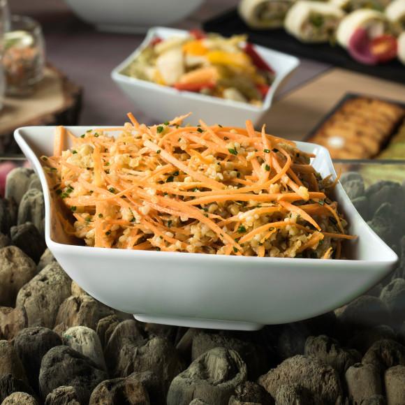 Salade de Boulgour façon taboulé, carottes vichy et cumin