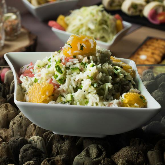 Salade de riz aux agrumes et concombre