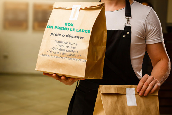 Box On prend le large prête à déguster (assortiment de poisson)