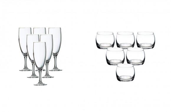 Verrerie réutilisable (en verre)