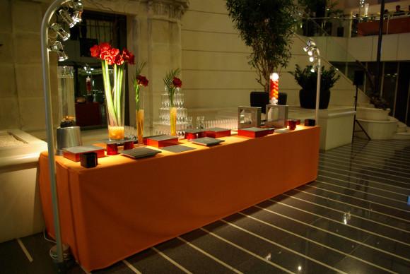 Table de buffet de 4m réhaussée