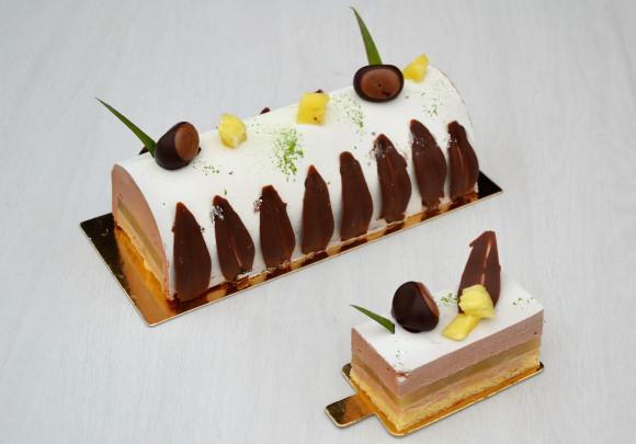 Bûche Bijou et sa crème anglaise