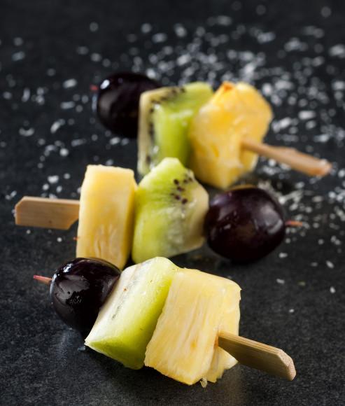 Brochette de fruits frais de saison