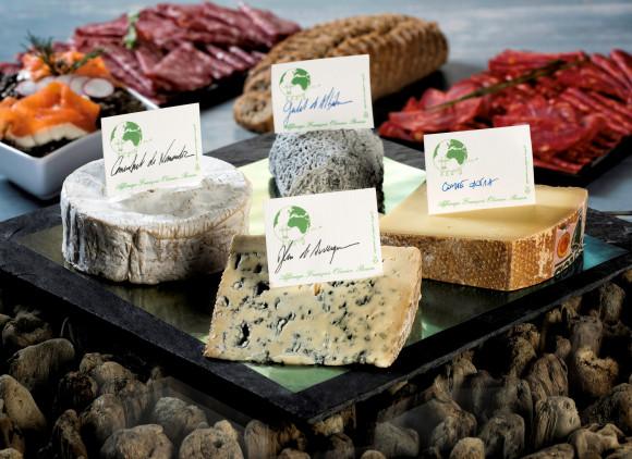 Plateau de fromages de nos régions affinés en cave par maître Olivier