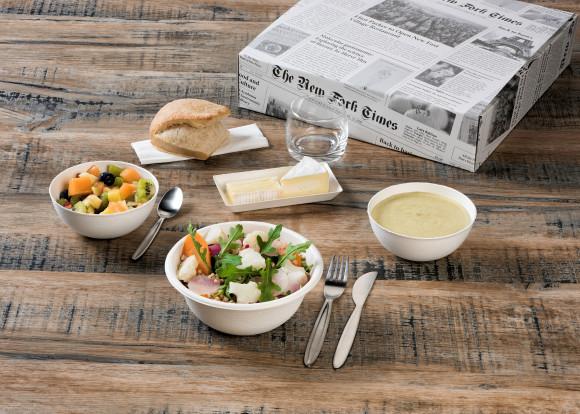 «Coton» (Velouté de courgettes/Salade de boulgour/Salade de fruits) Végan