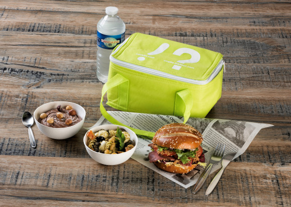 Cookbag « Home Office » (Burger poulet/Salade coleslaw/Mousse au chocolat poire)