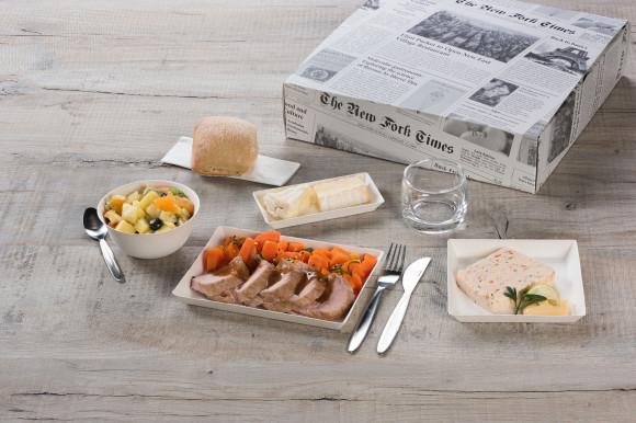 «LA PLUIE ET LE BEAU TEMPS» (Terrine de poisson/mignon de porc & carottes/Salade de fruits)