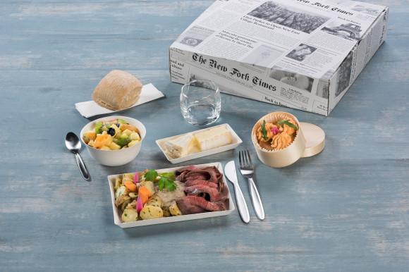 «MARCHÉ LOCAL» (Cake courgette/Boeuf & salade de pommes de terre/Salade de fruits)
