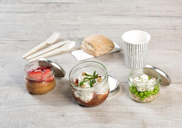 «Greement» (Salade/Rillette de dorade/Savarin fraise)
