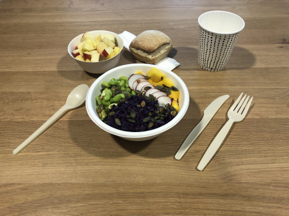 «Liège» (Pokebowl boulgour / salade de fruits) (Vegan)